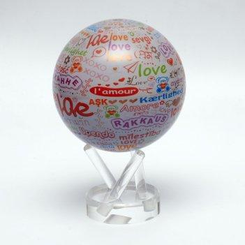 Глобус мобиле d12 см  i love you