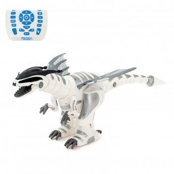 Робот радиоуправляемый интерактивный умный динозавр, световые и звуковые э