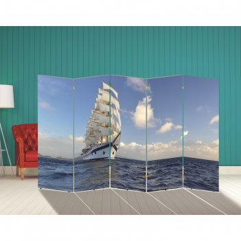Ширма корабли. декор 19 250 x 160 см