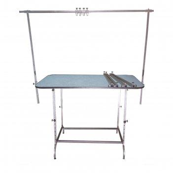 Стол для груминга складной, 120 х 70 см, высота 60 - 120 см, покрытие рези