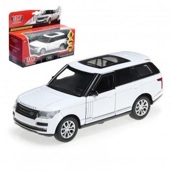 Машина металлическая range rover vogue 12 см, открыв двери, инерц, цв. бел