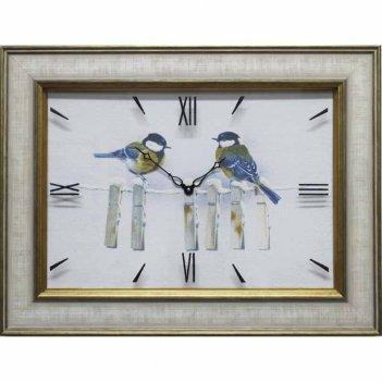 Часы картины династия 04-020-06 синицы