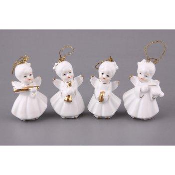 Комплект фигурок из 4 шт.ангелы-музыканты  высот...