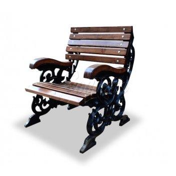 Кресло чугунное «флора» 0,6 м