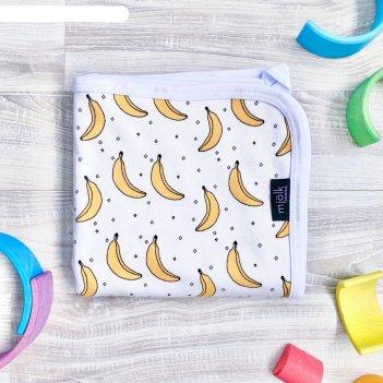 Двусторонний плед «бананы», размер 80x80 см
