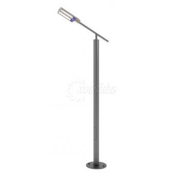 Стальной фонарный столб «модерн-с» со светильником 3,2 м (33 вт).