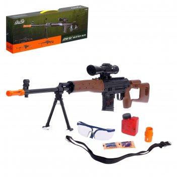 Механическая винтовка свд, стреляет гелевыми пулями