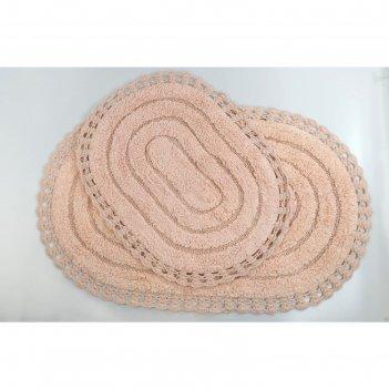 Набор ковриков для ванной modalin yana, 60x100 см, 50x70 см 1600 г/м2, цве