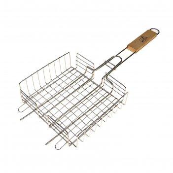 Решетка гриль для курицы малая, нержав. сталь, размер  220*205