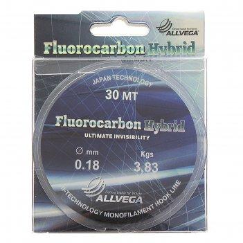 Леска allvega fluorocarbon hybrid 0.18 30м
