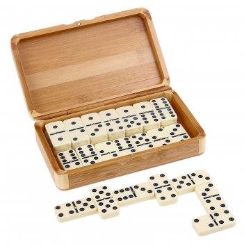 Домино сувенирное 28шт, в деревянной коробке