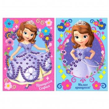Аппликация бисером милая принцесса!, софия прекрасная, краски 6 цветов, ки