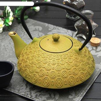 Чайник с ситом 1,2 л «бурхон», цвет зелёный