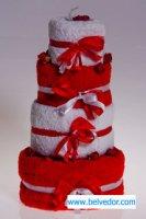 Набор полотенец торт 4штуки, розовые