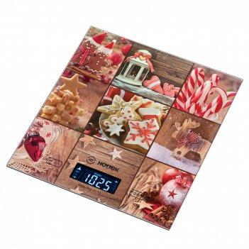 Весы кухонные новый год hottek ht-962-035 18*20см, макс.вес 7кг (кор=12шт.