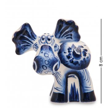 Гл-691 фигурка лось (гжельский фарфор)