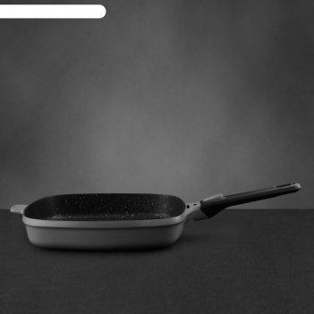 Сковорода гриль gem grey, 28 см, 3.2 л
