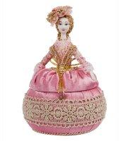 Rk-761 кукла-шкатулка дама нарядная