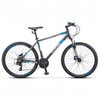 Велосипед 26 stels navigator-590 d, k010, цвет серый/синий, размер 18