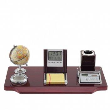 Настольный набор (глобус, часы, карандашница, калькулятор, блок для записе