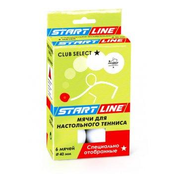 Мячи club select для настольного тенниса, 6 мячей уп., белые