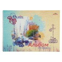 Альбом для рисования a3, 24 листа на гребне париж