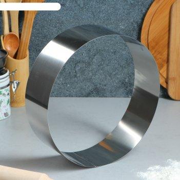 Форма для выпечки и выкладки круглая, 25 х 25 х 8,5 см (1 сорт)