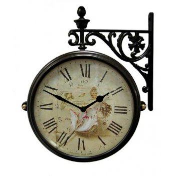 Настенные часы на подвесе b&s m195 br-f9