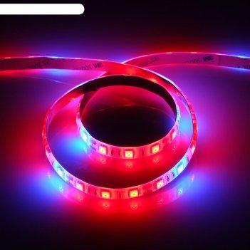 Светодиодная лента для растений luazon lighting, 1м, 60smd5050/м, 14вт/м,