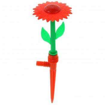 Распылитель цветочек 29 см, штуцер, пика, пластик, микс