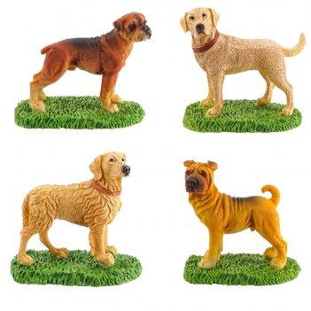 Фигурка декоративная собака, h6.5 см, 4 в. (без инд.упаковки...