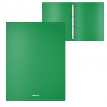 Папка на 4 кольцах а4 erichkrause classic 24 мм, зеленая 47025
