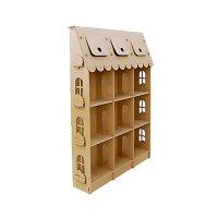Домик из картона стеллаж для игрушек