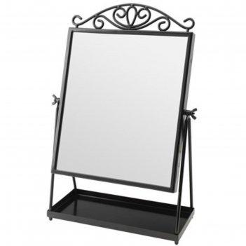 Зеркало настольное, цвет черный кармсунд