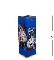 Vz-539 ваза стеклянная жостово h-300 (квадрат)