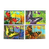 Альбом д/рис а4 48л на гребне прекрасные бабочки, микс  а4гр48_гл 1328