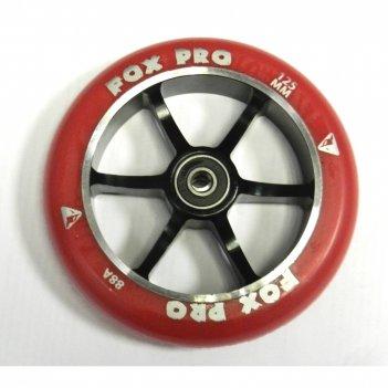 Колесо  fox wheel 6st 125мм  красный/черный