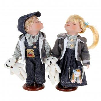 Кукла коллекционная поцелуйчик парочки в наборе 2 шт