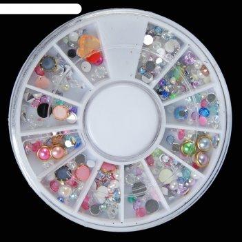 Ассорти декора для ногтей, 12 ячеек, цвет микс