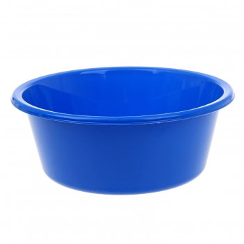 Таз пластиковый 4 л кливия, цвет синий