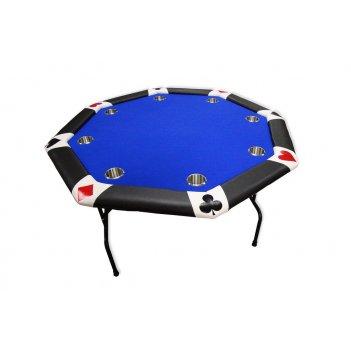 Стол для покера king на 8 игроков, складной