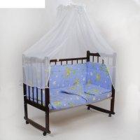 Комплект в кроватку 7 предмета гамачки голубой 10700