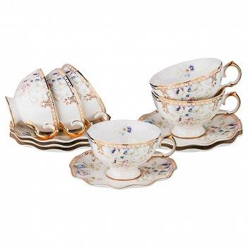 Чайный набор на 6 персон  завтрак у короля 12 пр, 200 мл. (кор=8наб.)