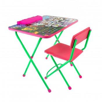 Набор детской мебели дисней 2. феи: азбука складной: стол, мягкий моющийся