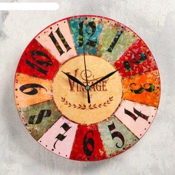 Часы настенные винтаж,  d-23.5. плавный ход