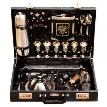 Подарочный чемодан с набором для пикника «премьер» (6персон)