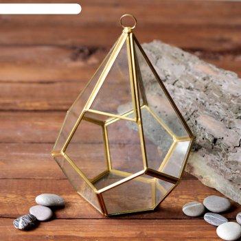 Флорариум капля золотой каркас