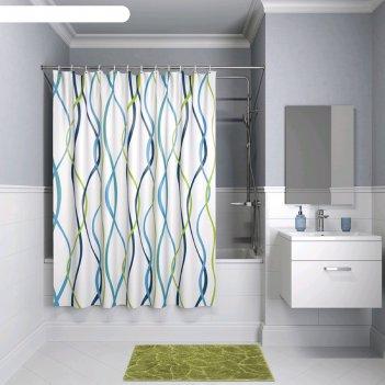 Штора для ванной комнаты iddis p15p118i11, 180x180 см, полиэстер