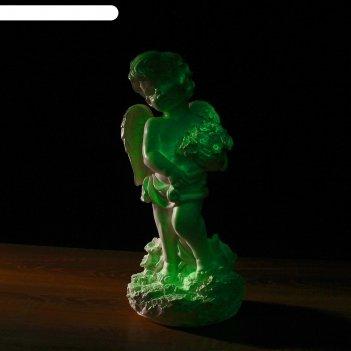 Статуэтка светящаяся «ангел с цветами», большая