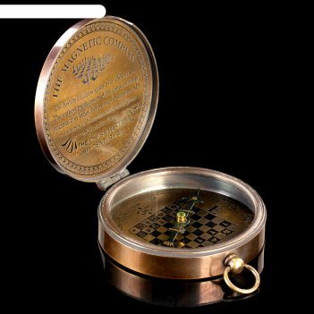 Компас латунь шахматы 7,5х8,5х2 см